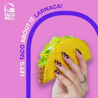 Larnaca you lucky! Get ready because your first restaurant is coming! 🎉🌮 #NewTacoBell #OpeningSoon #TacoBellCyprus