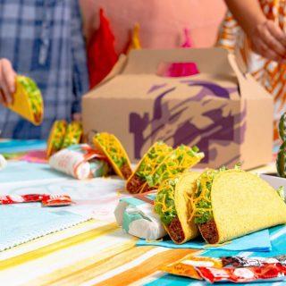 It's time to enjoy our Taco Party Box! 💜🌮 #iseeataco #LiveMas #TacoBellCy
