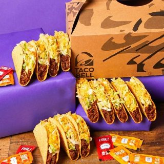 Skip cooking for tonight! Our Taco Party Box is the perfect treat for you and the fam! 🌮💜 #iseeataco #LiveMas #TacoBellCy