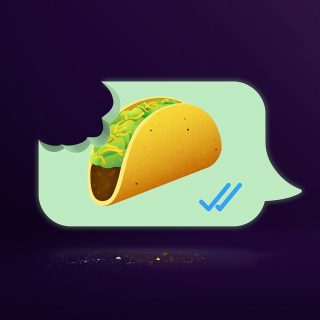 Tomorrow is the day! Find out what this 🌮 emoji tastes like. Visit the link in bio, send us a 🌮 emoji, and we'll give you a free real taco!! #iseeataco #TacoBellCyprus #NationalTacoDay