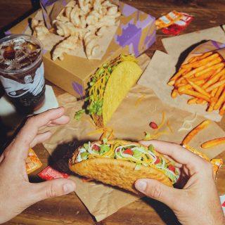 Dinner + dessert is our favourite combo 💕 #TacoBellCy #LiveMas #AtHomeWithTacoBell
